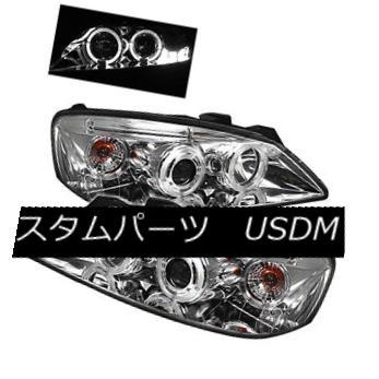 ヘッドライト Pontiac 05-10 G6 Chrome Dual Halo LED Projector Headlight Lamp GT GTP GXP Base ポンティアック05-10 G6クロムデュアルハローLEDプロジェクターヘッドライトランプGT GTP GXPベース