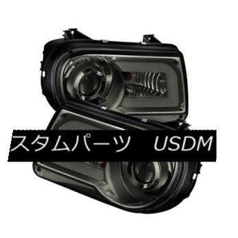 ヘッドライト Chrysler 05-10 300C Smoke DRL Tube LED Projector Headlights C Sedan C SRT-8 クライスラー05-10 300CスモークDRLチューブLEDプロジェクターヘッドライトCセダンC SRT-8