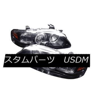 ヘッドライト Fit Nissan 00-03 Sentra Black Dual Halo LED Projector Headlight Lamp GXE SE XE Fit Nissan 00-03 Sentra BlackデュアルハローLEDプロジェクターヘッドライトランプGXE SE XE