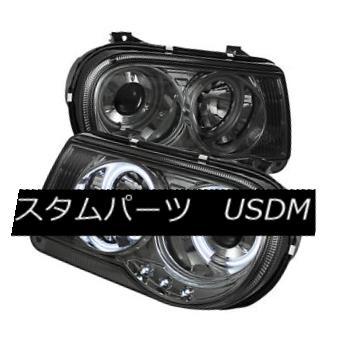 ヘッドライト Chrysler 05-10 300C Smoke CCFL Dual Halo Projector Headlights Lamp C Sedan SRT8 クライスラー05-10 300C煙CCFLデュアルハロープロジェクターヘッドライトランプCセダンSRT8