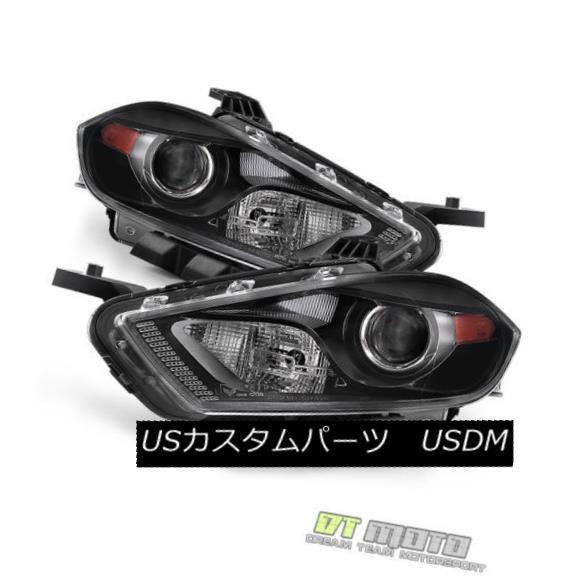 ヘッドライト Dodge 13-15 Dart Black Housing Replacement Headlights Pair Set *HID Model* ドッジ13-15ダートブラックハウジング交換ヘッドライトペア* HIDモデル*