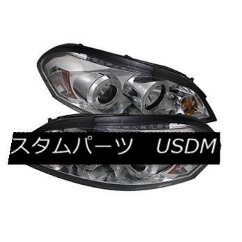ヘッドライト Chevy 06-13 Impala Chrome DRL Dual Halo LED Projector Headlights LT LS LTZ SS Chevy 06-13インパラクロームDRLデュアルハローLEDプロジェクターヘッドライトLT LS LTZ SS