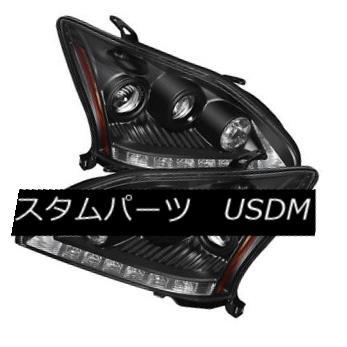 ヘッドライト Lexus 04-06 RX330 Black DRL LED Projector Headlights Factory HID Models Only レクサス04-06 RX330ブラックDRL LEDプロジェクターヘッドライトファクトリーHIDモデルのみ