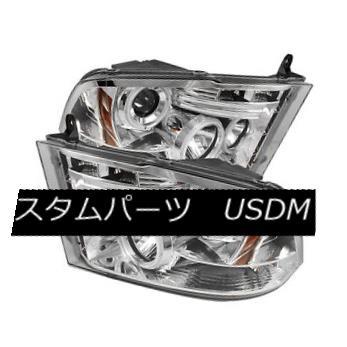 ヘッドライト Dodge 09-16 Ram Chrome CCFL Dual Halo LED Projector Headlights Lamp ドッジ09-16ラムクロームCCFLデュアルハローLEDプロジェクターヘッドライトランプ