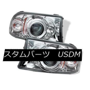 ヘッドライト Dodge 97-04 Dakota Durango Chrome Dual Halo LED Projector Headlight Amber Signal ドッジ97-04ダコタデュランゴクロームデュアルハローLEDプロジェクターヘッドライトアンバーシグナル