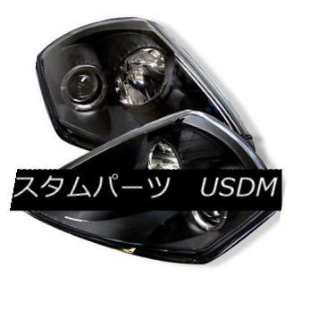 ヘッドライト Mitsubishi 00-05 Eclipse Black Halo LED Projector Headlight GTS GS GT Spyder 三菱00-05 EclipseブラックハローLEDプロジェクターヘッドライトGTS GS GT Spyder
