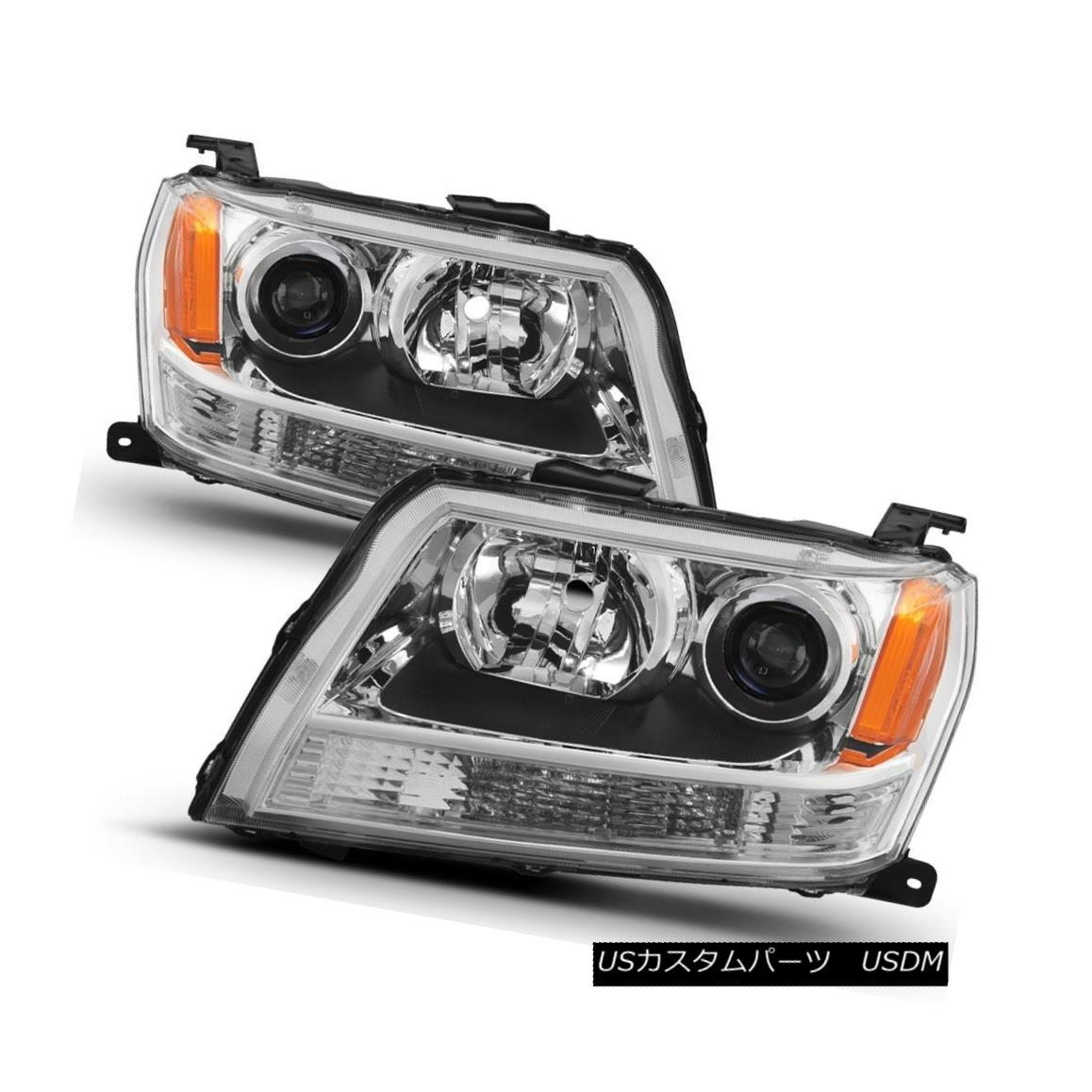ヘッドライト Suzuki 06-08 Grand Vitara Chrome Replacement Headlights Set GL GLS SWT JA JLX JX スズキ06-08 Grand Vitaraクローム交換ヘッドライトセットGL GLS SWT JA JLX JX