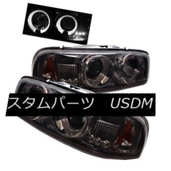 ヘッドライト GMC 99-06 Sierra Yukon Pickup Truck Smoke Halo LED Projector Headlights Denali GMC 99-06シエラユーコンピックアップトラックスモークハローLEDプロジェクターヘッドライトデナリ