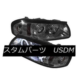 ヘッドライト Chevy 00-05 Impala Chrome CCFL Dual Halo LED Projector Headlights Base LS SS Chevy 00-05インパラクロームCCFLデュアルハローLEDプロジェクターヘッドライトベースLS SS