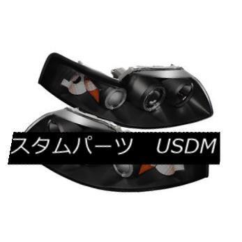 ヘッドライト Ford 99-04 Mustang Black Smoke CCFL Halo Projector Headlights w/ Signal Lamp Ford 99-04 Mustang Black Smoke CCFL Haloプロジェクターヘッドランプ(シグナルランプ付)
