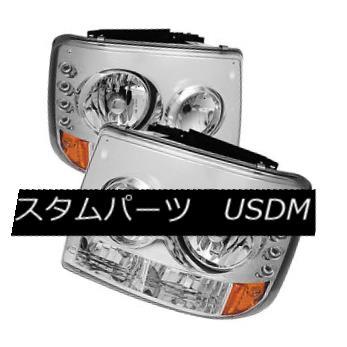ヘッドライト Chevy 99-02 Silverado 00-06 Tahoe Suburban LED Headlights Bumper 1-Piece Style シボレー99-02シルバラード00-06タホー郊外LEDヘッドライトバンパー1ピーススタイル
