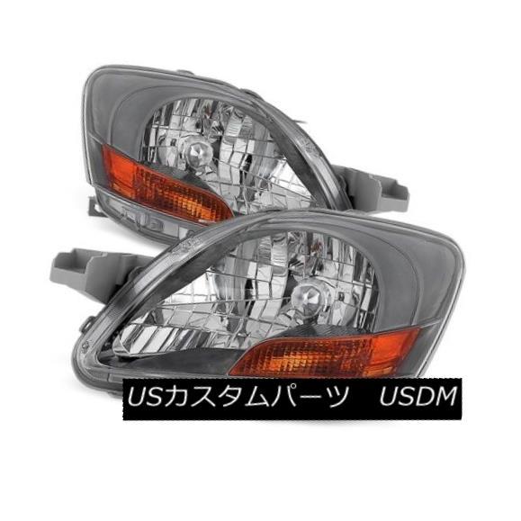 ヘッドライト Toyota 07-11 Yaris Chrome Housing Replacement Headlights Left+Right Set トヨタ07-11ヤリスクロームハウジング交換ヘッドライト左+右セット