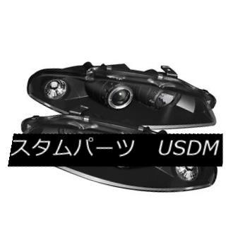 ヘッドライト Mitsubishi 97-99 Eclipse Black Halo LED Projector Headlight GST GS GSX Spyder 三菱97-99 EclipseブラックハローLEDプロジェクターヘッドライトGST GS GSX Spyder