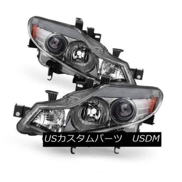 ヘッドライト Fit Nissan 09-14 Murano Chrome Replacement Headlights Left + Right S LE SV SL フィット日産09-14ムラーノクロム交換ヘッドライト左+右S LE SV SL