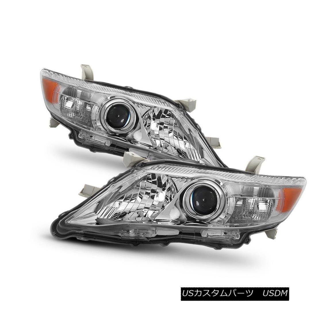 ヘッドライト Toyota 10-11 Camry LE / XLE Chrome Housing Replacement Headlights Left+Right Set トヨタ10-11カムリLE / XLEクロームハウジング交換ヘッドライト左+右セット