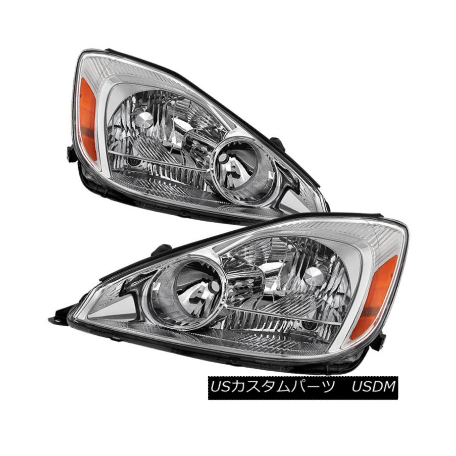 ヘッドライト Toyota 04-05 Sienna Chrome Housing Replacement Headlights Left+Right CE LE XLE トヨタ04-05シエナクロームハウジング交換ヘッドライト左+右CE LE XLE
