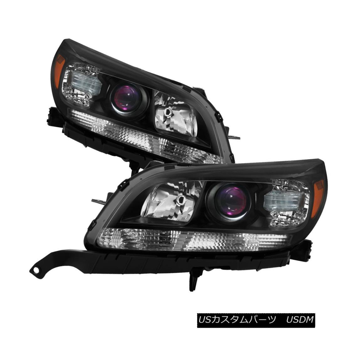 ヘッドライト Chevy 13-15 Malibu LT / LTZ Black Housing Replacement Headlights Left + Right Chevy 13-15 Malibu LT / LTZブラックハウジング交換ヘッドライト左+右