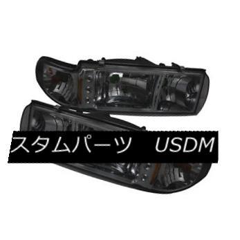 ヘッドライト Chevy 91-96 Caprice Impala Smoke Replacement LED Headlights w/ Corner Signal シェビー91-96カプリスインパラスモーク交換LEDヘッドライト/コーナー信号
