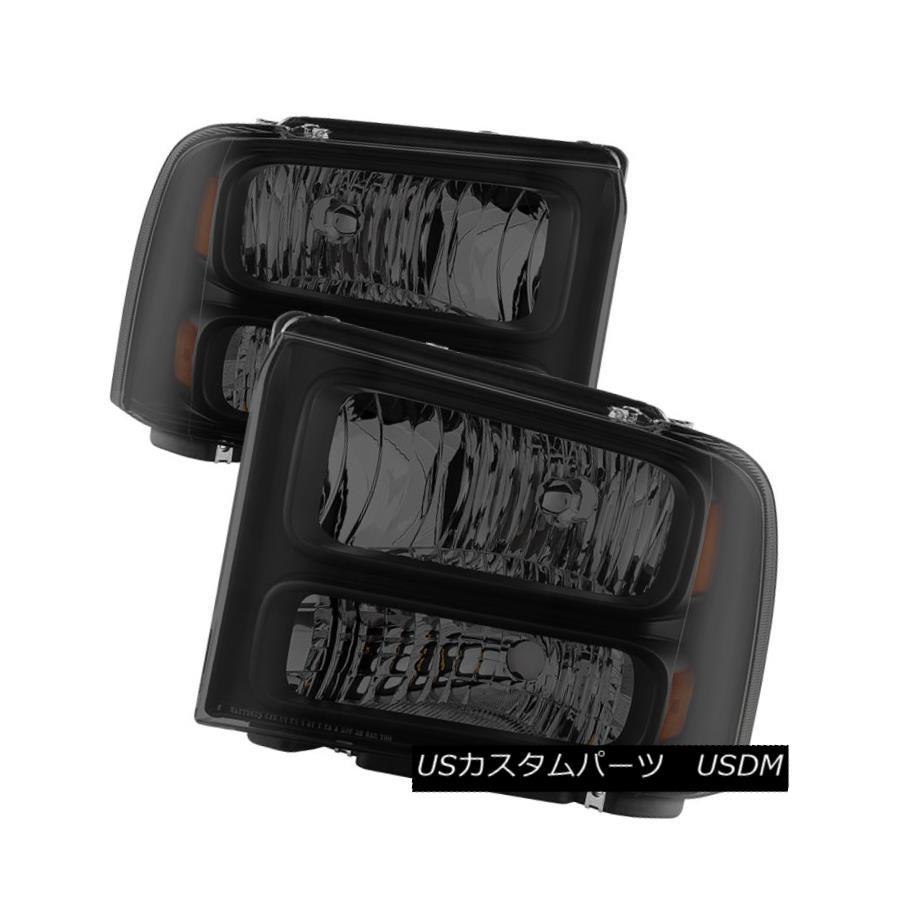 ヘッドライト 99-04 F250 F350 SuperDuty/Excursion Black Smoke Harley Conversion Headlights 99-04 F250 F350 SuperDuty / Excu  rsionブラックスモークハーレーコンバージョンヘッドライト