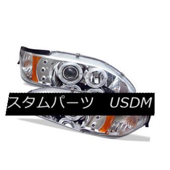 ヘッドライト Ford 94-98 Mustang Chrome Dual Halo LED Projector Headlights Lamp Base SVT GT フォード94-98ムスタングクロムデュアルハローLEDプロジェクターヘッドライトランプベースSVT GT
