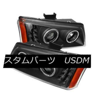 ヘッドライト Chevy 03-06 Silverado Avalanche Black LED Halo Projector Headlights Pair Set Chevy 03-06 Silverado Avalanche Black LEDハロープロジェクターヘッドライトペアセット