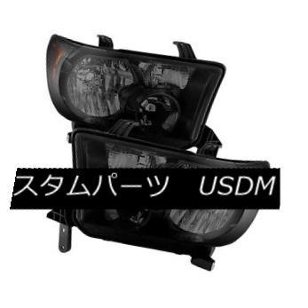 ヘッドライト 07-13 Tundra / 08-15 Sequoia Black Housing Smoke Lens Replacement Headlights 07-13トンドラ/ 08-15セコイアブラックハウジングスモークレンズ交換用ヘッドライト