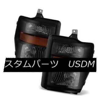 ヘッドライト Ford 08-10 F250 F350 F450 F550 SuperDuty Black Housing Smoke Lens Headlights Ford 08-10 F250 F350 F450 F550 SuperDutyブラックハウジングスモークレンズヘッドライト