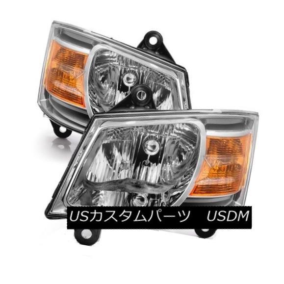 ヘッドライト Dodge 08-10 Grand Caravan Chrome Housing Replacement Headlights C/V SE SXT Dodge 08-10 Grand Caravanクロムハウジング交換用ヘッドライトC / V SE SXT