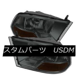 ヘッドライト Dodge 09-16 Ram 1500 10-15 2500 3500 Smoke Lens Replacement Headlights Pair ドッジ09-16ラム1500 10-15 2500 3500スモークレンズ交換ヘッドライトペア