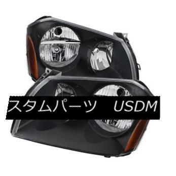 ヘッドライト Dodge 05-07 Magnum Black Housing Replacment Headlights Pair SE SXT ドッジ05-07マグナムブラックハウジング交換ヘッドライトペアSE SXT