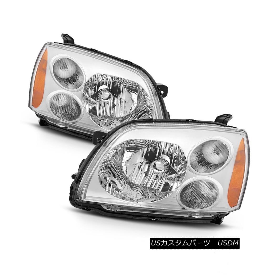 ヘッドライト Mitsubishi 04-12 Galant Chrome Housing Replacement Headlights Left+Right Set 三菱04-12 Galantクロムハウジング交換ヘッドライト左+右セット