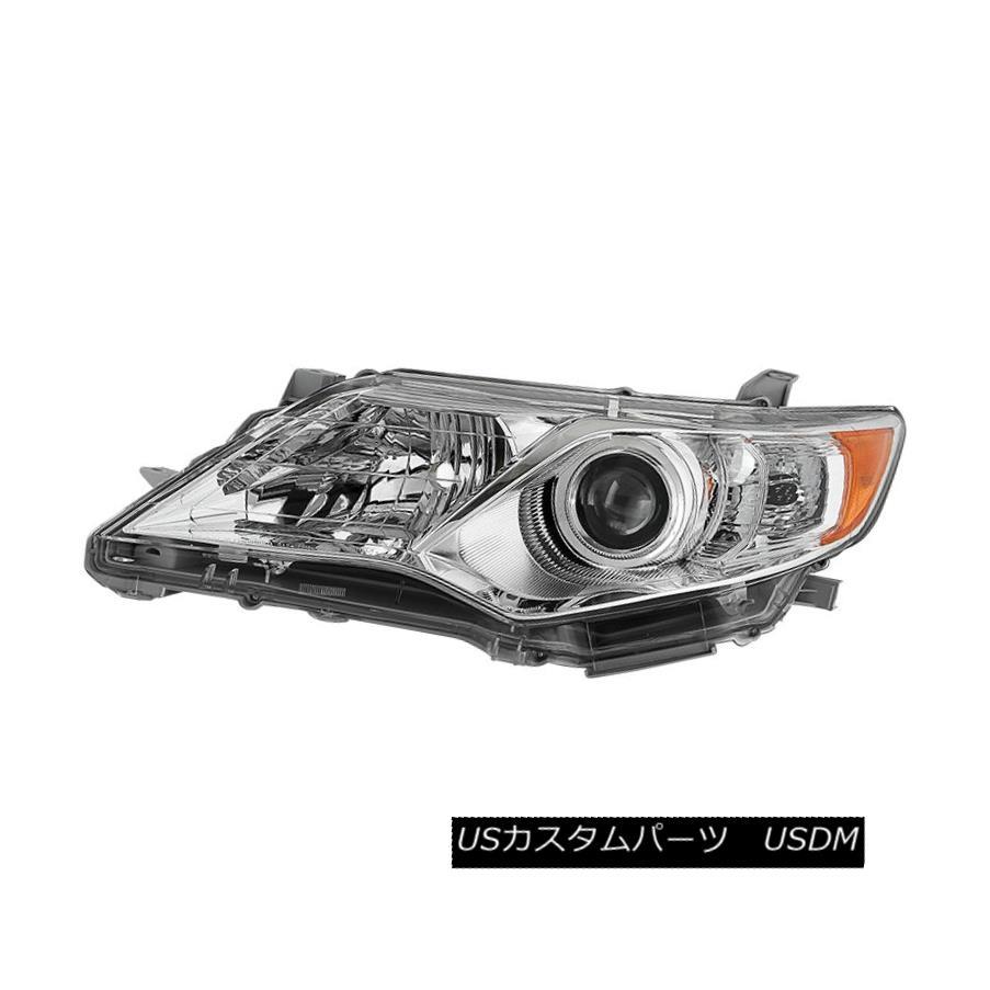 ヘッドライト Toyota 12-14 Camry Chrome Housing Replacement Headlight Driver / Left Side Lamp トヨタ12-14カムリクロームハウジング交換ヘッドライトドライバ/左サイドランプ
