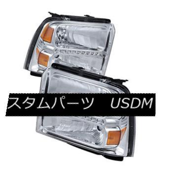ヘッドライト Ford 05-07 F250 F350 F450 SuperDuty Chrome Housing Replacement LED Headlights Ford 05-07 F250 F350 F450 SuperDuty Chromeハウジング交換用LEDヘッドライト