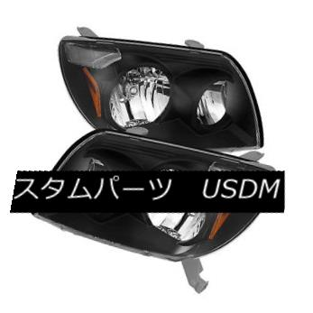 ヘッドライト Toyota 03-05 4Runner Black Housing Replacement Headlights SR5 Limited Sport トヨタ03-05 4Runnerブラックハウジング交換ヘッドライトSR5限定スポーツ