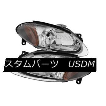 Headlights Black Housing Pair Left Right Set Fits 98-03 Ford Escort ZX2