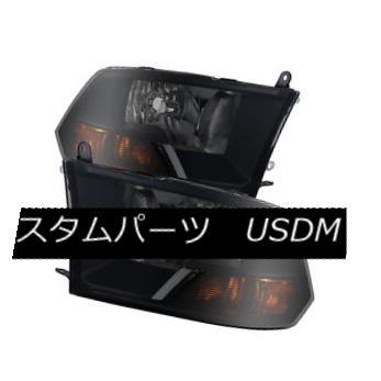 ヘッドライト Dodge 09-16 Ram 1500 10-15 2500 3500 Black Housing Smoke Lens Headlights Pair ドッジ09-16ラム1500 10-15 2500 3500ブラックハウジングスモークレンズヘッドライトペア