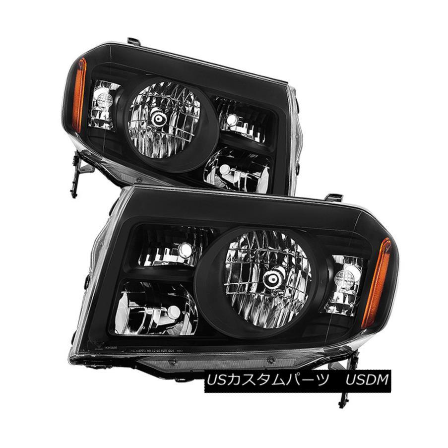 ヘッドライト Honda 09-11 Pilot Black Housing Replacement Headlights Pair EX EX-L LX Touring ホンダ09-11パイロットブラックハウジング交換ヘッドライトペアEX EX-L LXツーリング