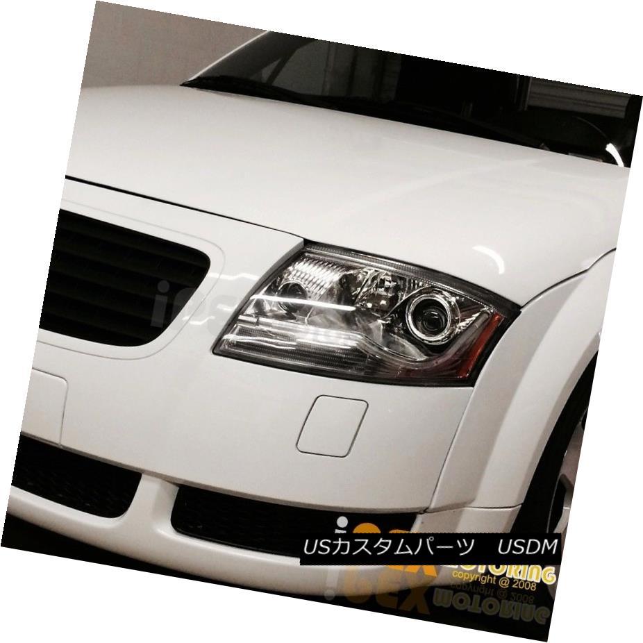 ヘッドライト 1999-2006 Audi TT Chrome LED DRL Tube Daytime Running Lamp Projector Headlights 1999-2006アウディTTクロームLED DRLチューブデイタイムランニングランププロジェクターヘッドライト