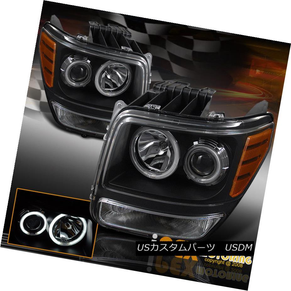 ヘッドライト 2007-2011 Dodge Nitro CCFL Angel Halo Black Projector Headlight W/Clear Signal 2007-2011ダッジニトロCCFLエンジェルハローブラックプロジェクターヘッドライトW /クリア信号