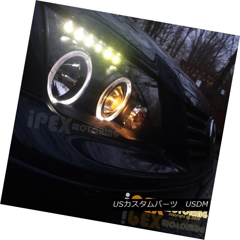 ヘッドライト New 1999-2005 VW Jetta Bora Style Halo Projector LED Black Headlights Headlamp 新しい1999-2005 VWジェッタボラスタイルのハロープロジェクターLEDブラックヘッドライトヘッドランプ