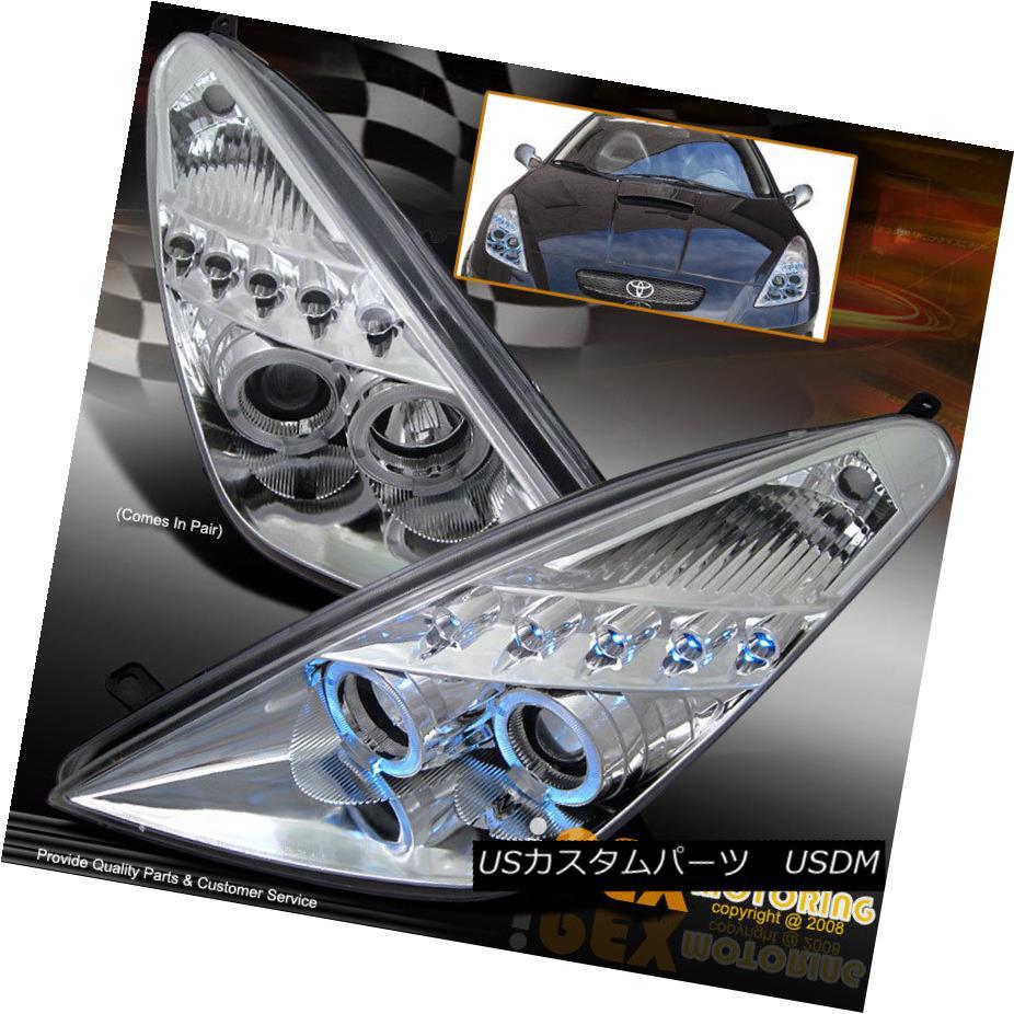 ヘッドライト NEW 2000-2005 Toyota Celica Dual Halo Projector LED Headlight Headlamp Chrome NEW 2000-2005トヨタセリカデュアルハロープロジェクターLEDヘッドライトヘッドランプクローム