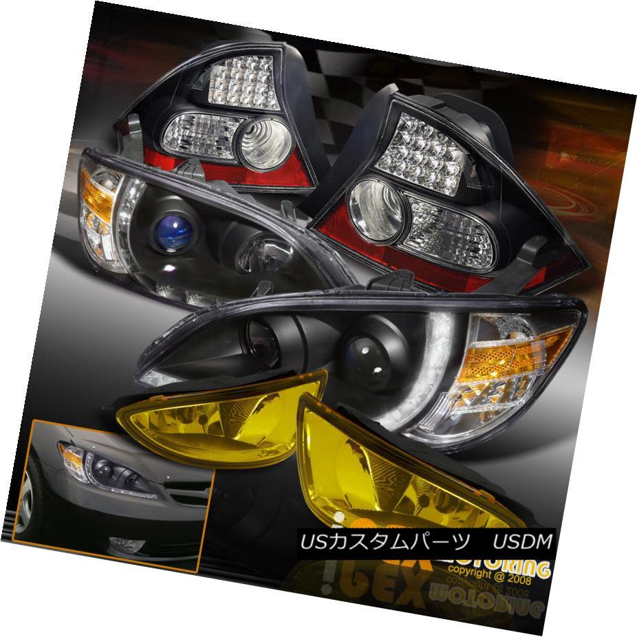ヘッドライト 2004-2005 Honda Civic 2Dr Projector LED Black Headlights + Tail Light +Fog Light 2004-2005 Honda Civic 2DrプロジェクターLEDブラックヘッドライト+テールライト+フォグライト