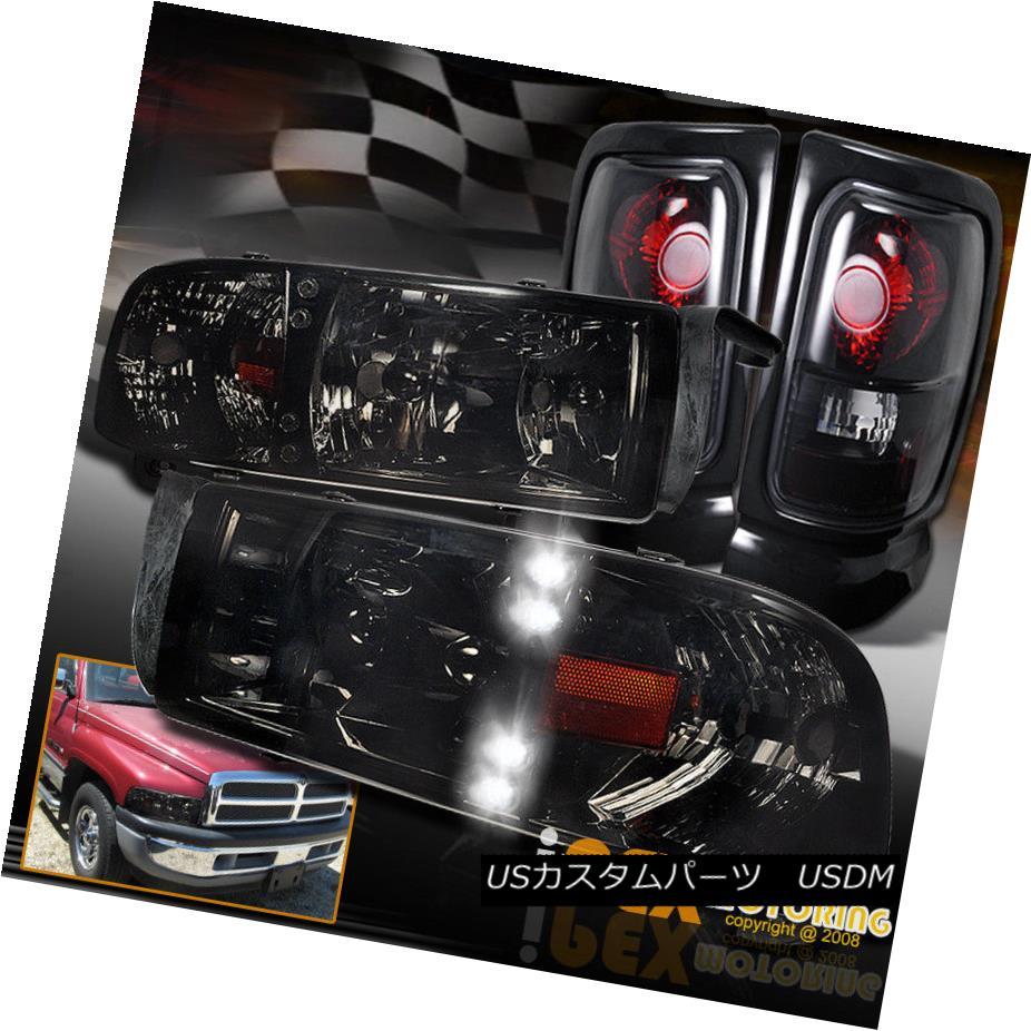 ヘッドライト SHINY SMOKE 94-01 Dodge Ram 1500 2500 3500 LED Headlight + Dark Smoke Tail Light SHINY SMOKE 94-01 Dodge Ram 1500 2500 3500 LEDヘッドライト+ダークスモークテールライト