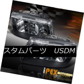 ヘッドライト VOLKSWAGEN 1999-2004 JETTA BLACK DUAL HALO RIM PROJECTOR HEAD LIGHTS + FOG L:AMP フォルクスワーゲン1999-2004 JETTA BLACKデュアルハロー・リム・プロジェクターヘッドライト+ FOG L:AMP