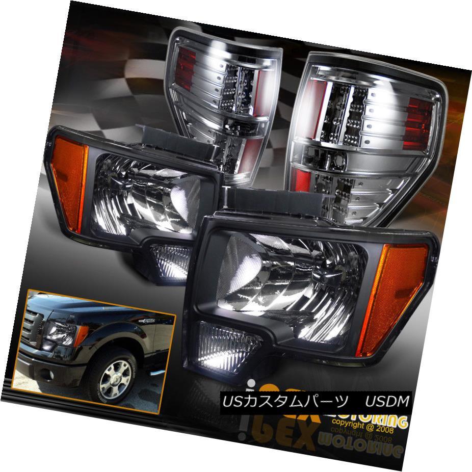 ヘッドライト 2009-2014 Ford F150 SVT FX4 STX Black Headlights +