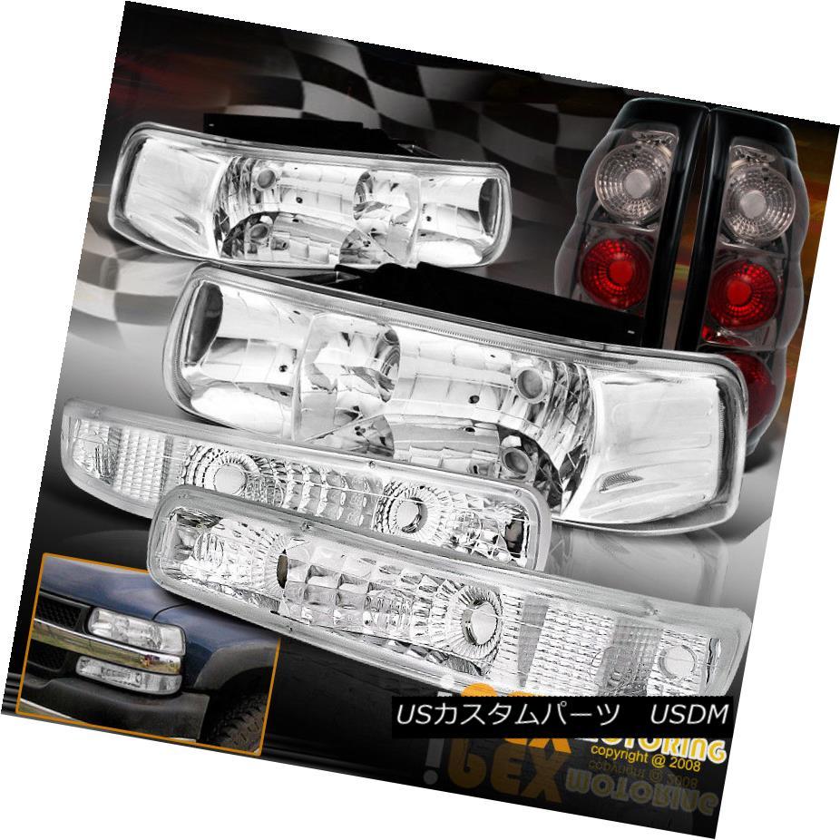 ヘッドライト 1999-2002 Chevy Silverado Chrome Headlights + Bumper Signals + Smoke Tail Light 1999-2002シボレーシルバラードクロームヘッドライト+バンパーシグナル+スモークテールライト