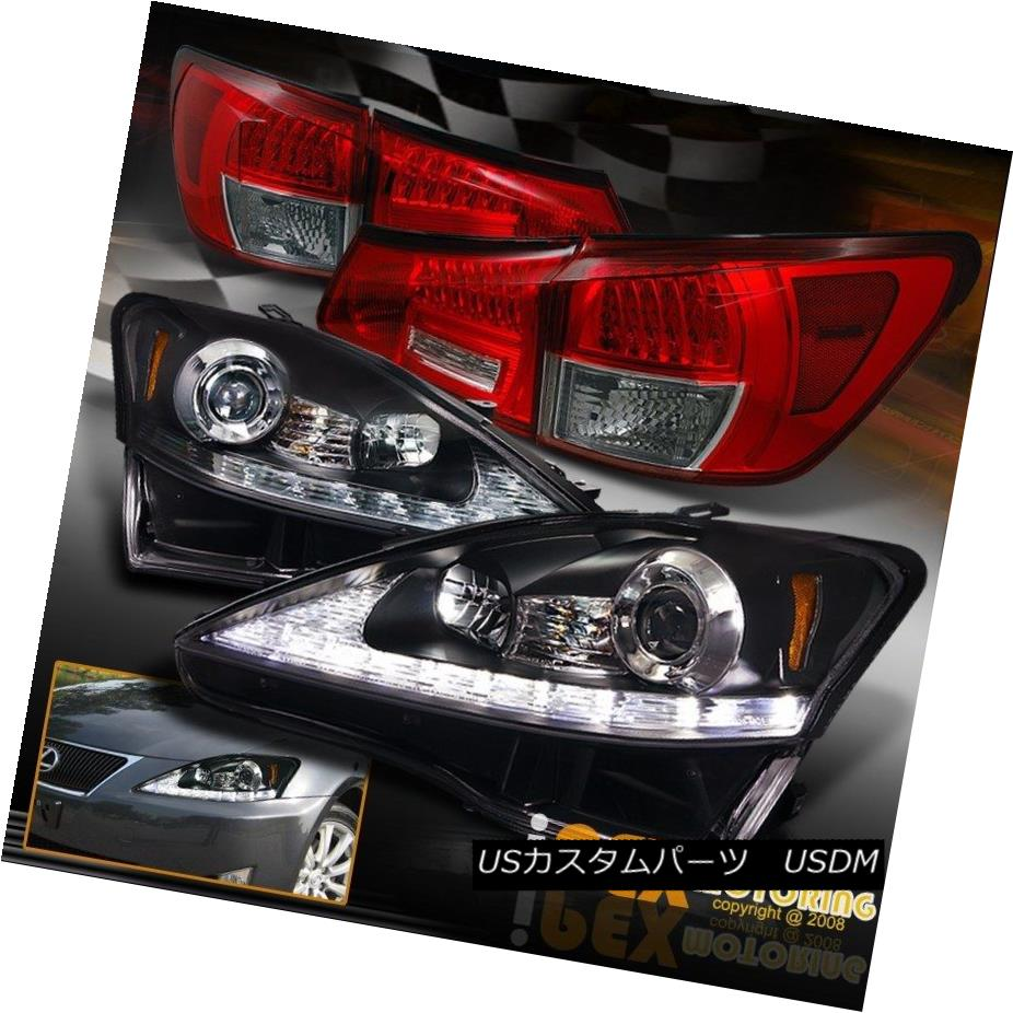 ヘッドライト 2006-2009 Lexus IS250 LED DRL Signals Projector Black Headlight + LED Tail Light 2006-2009 Lexus IS250 LED DRL信号プロジェクターブラックヘッドライト+ LEDテールライト