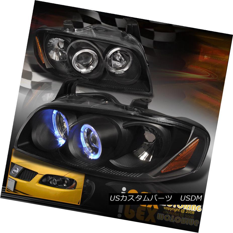 ヘッドライト NEW For 2004-2006 Nissan Sentra Halo Projector LED Headlights Headlamp Black 2004-2006年のNEW Nissan Sentra HaloプロジェクターLEDヘッドライトヘッドランプブラック