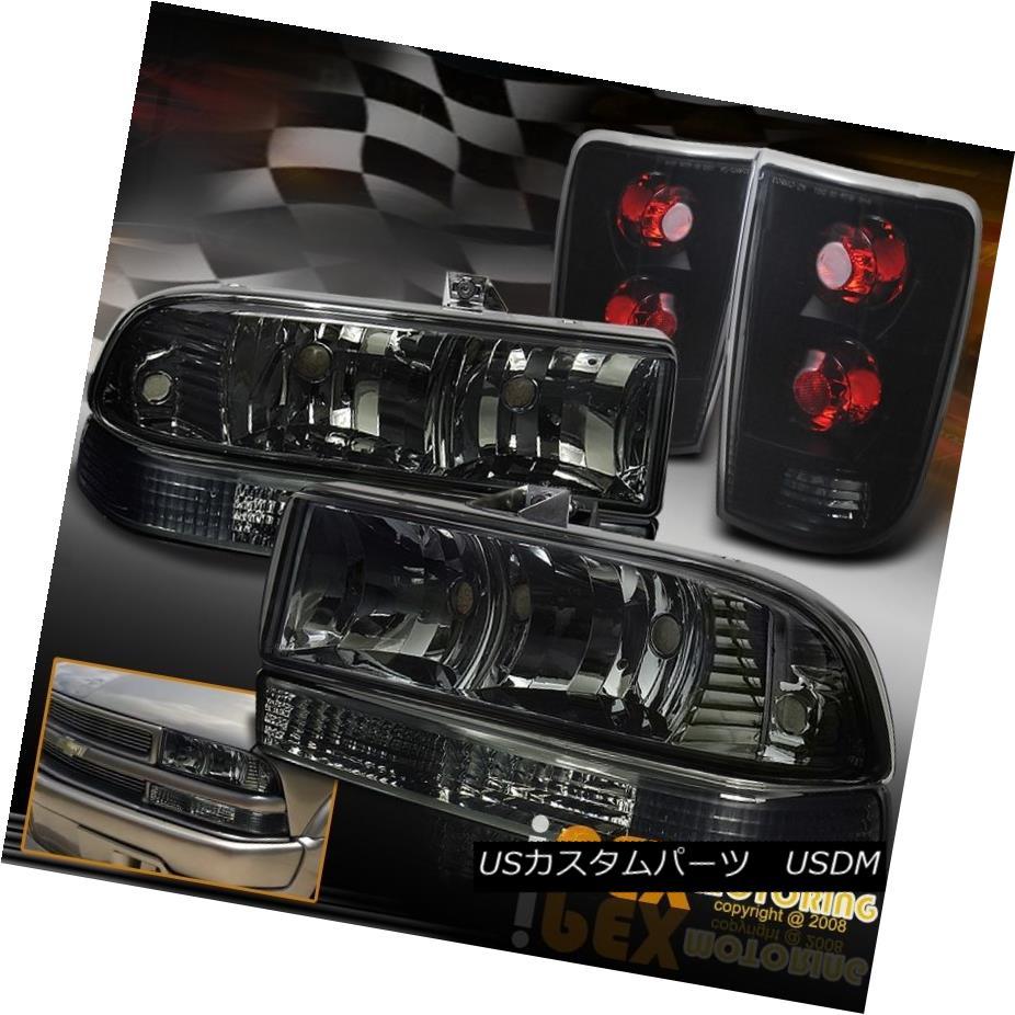 ヘッドライト 1998-2004 Chevy Blazer Smoke Head Light W/ Bumper Signal & Dark Smoke Tail Lamp 1998-2004シボレーブレイザースモークヘッドライトW /バンパーシグナル& 暗い煙テールランプ
