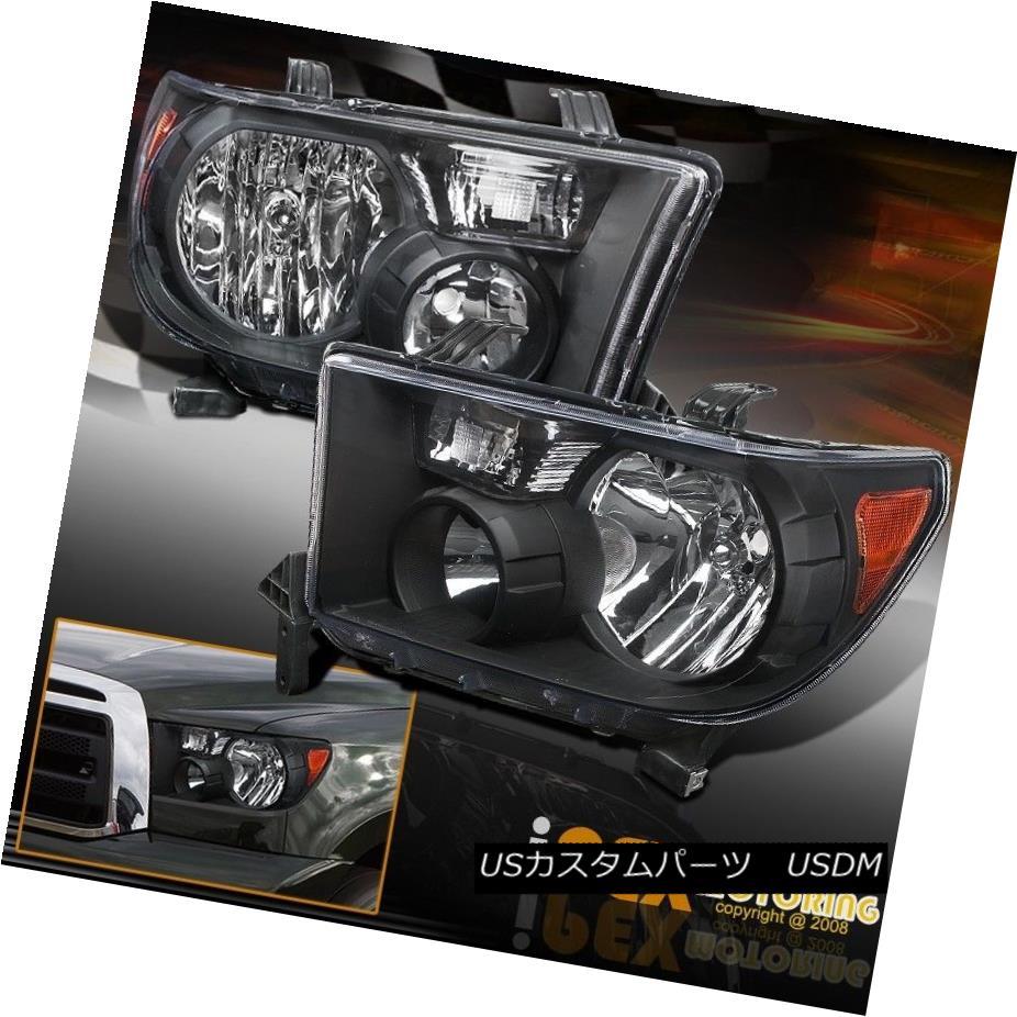 TOYOTA OEM Sequoia Headlight Head Light Washer Cover Left 202 Black 850450C010C0